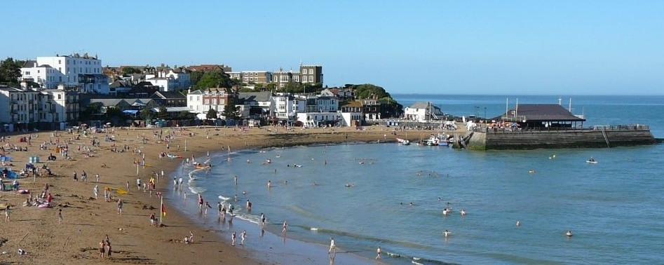 The VIKING BAY Beach of Broadstairs, Kent